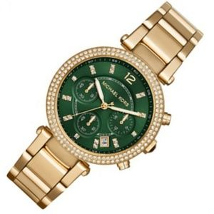 MICHAEL KORS Gold Tone Round Large Watch